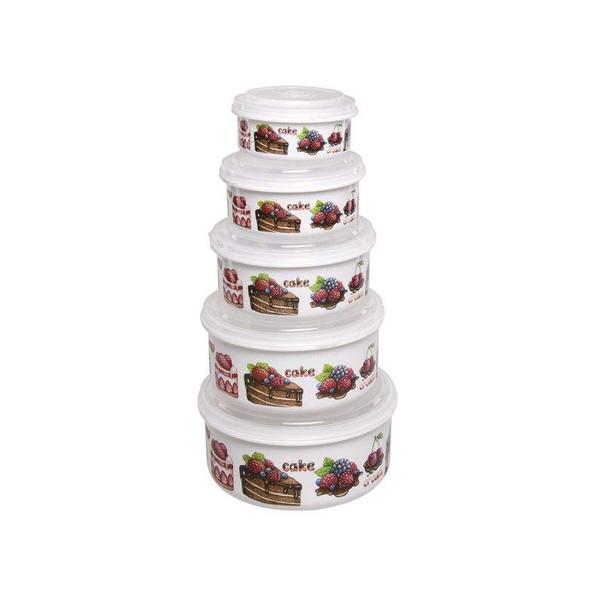 ظرف نگهدارنده فرش کیپس مدل کیک مجموعه 5 عددی