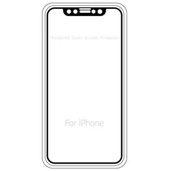 محافظ صفحه نمایش موکول مدل Full Cover Tempered Glass مناسب برای گوشی موبایل آیفون X/10