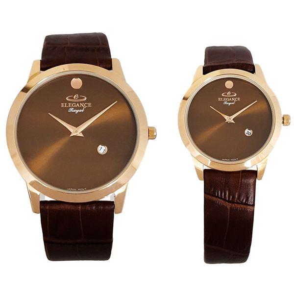 ساعت ست مردانه و زنانه الگانس رویال مدل ER3060-Brown