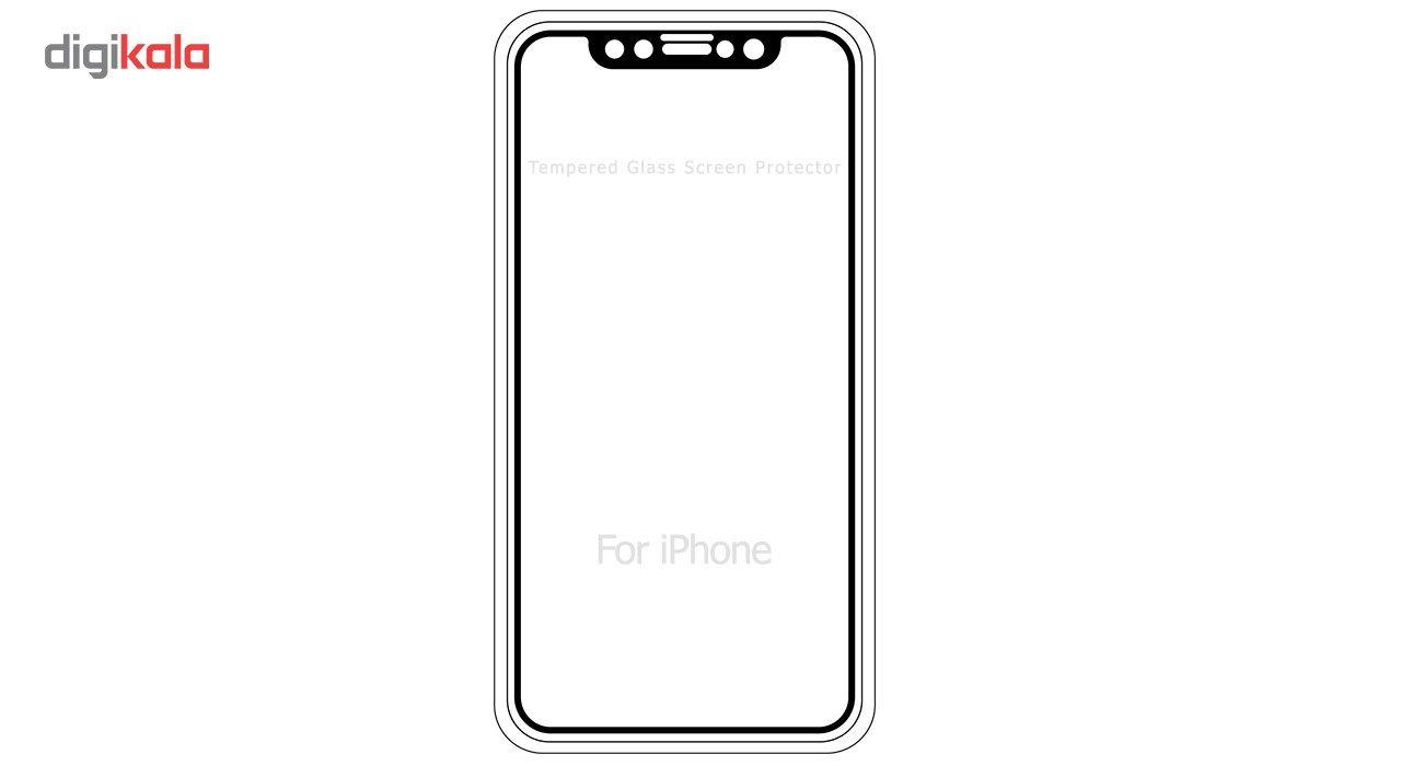 محافظ صفحه نمایش موکول مدل Full Cover Tempered Glass مناسب برای گوشی موبایل آیفون X/10 main 1 1