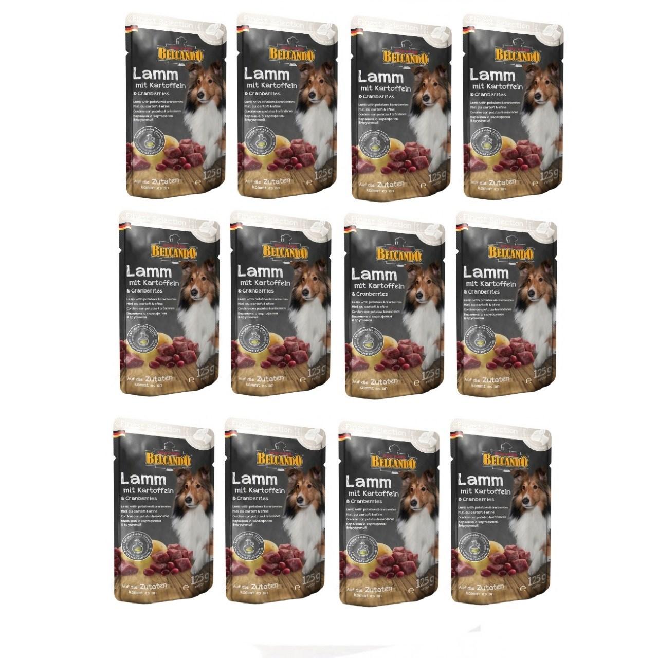 غذای پوچ سگ بلکاندو مدل Lamb With Potato And Cranberries بسته 12 عددی