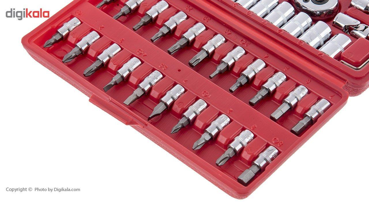 مجموعه 46 عددی آچار و سری بکس و پیچ گوشتی ساتاگود مدل G-10028 main 1 4