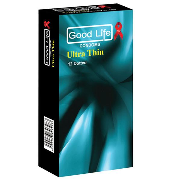 کاندوم گودلایف مدل نازک ultre thin And delay بسته 12 عددی