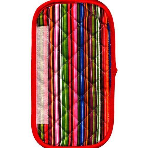 دستگیره یخچال کتان 30 × 15 رزین تاژ طرح راه راه رنگی