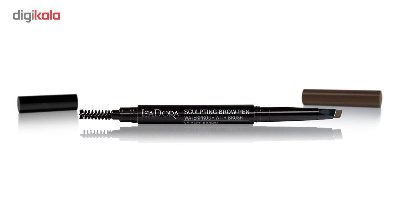 مداد ابرو ایزادورا مدل Sculpting Brow Pen شماره 80 -  - 2