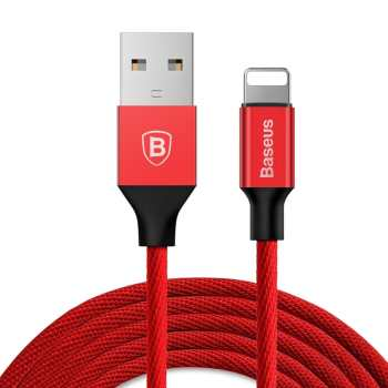 کابل تبدیل USB به لایتنینگ باسئوس مدل Yiven طول 3 متر