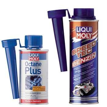 مکمل سوخت خودرو لیکومولی مدل Octane Plus به همراه مکمل سوخت مدل Speed TEC Petrol