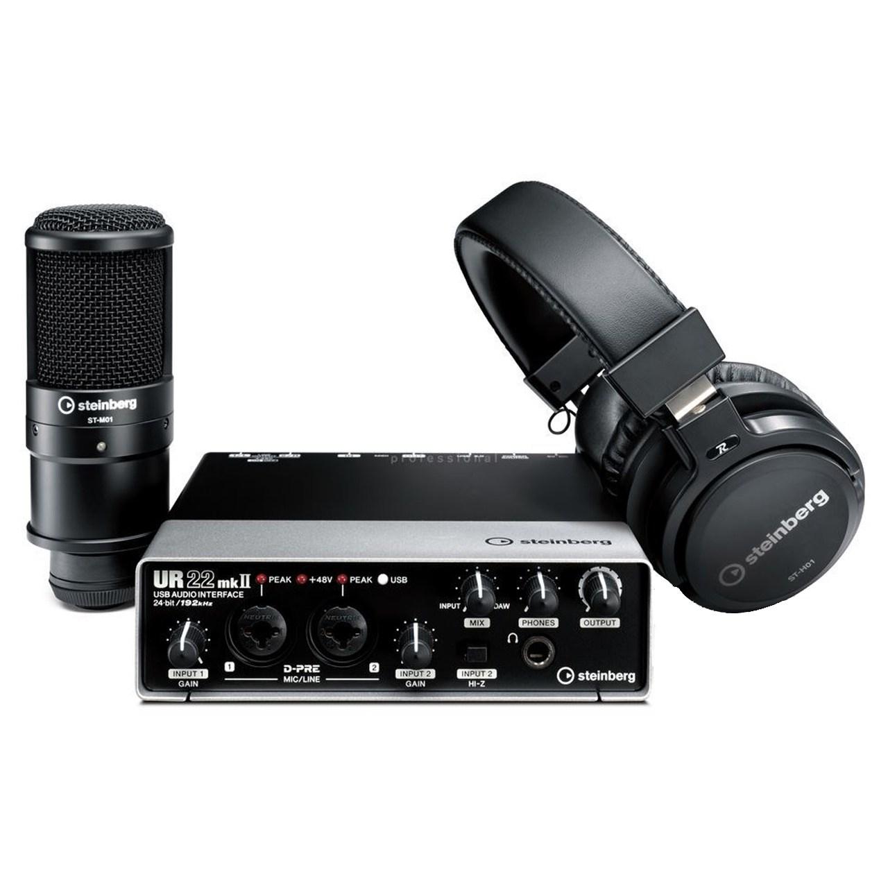 مجموعه تجهیزات ضبط صدای اشتاینبرگ مدل UR22 MKII