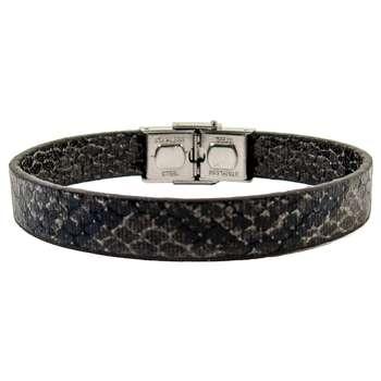 دستبند چرم حامد گالری طرح پوست مار مدل bl4022