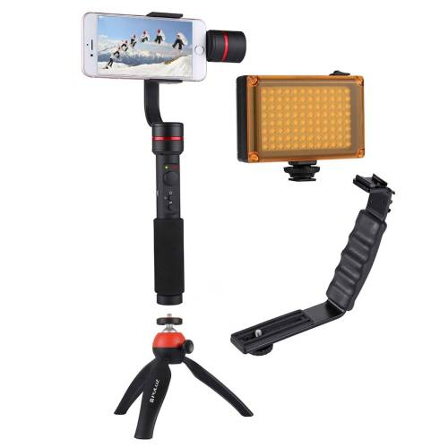 دسته فیلم برداری پلوز مدل G1 Stabilizer همراه با فلاش مناسب برای دوربین ورزشی گوپرو