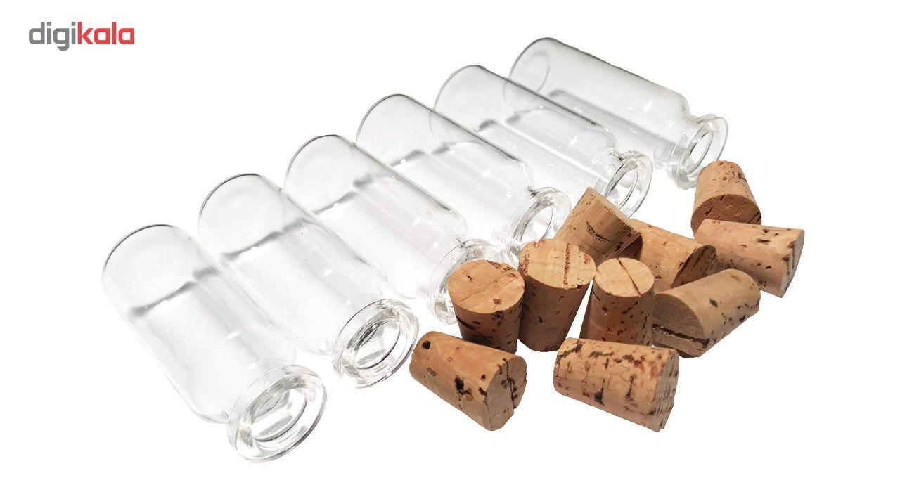 بطری با درب چوب پنبه مدل 15 سی سی - بسته 10 عددی main 1 2