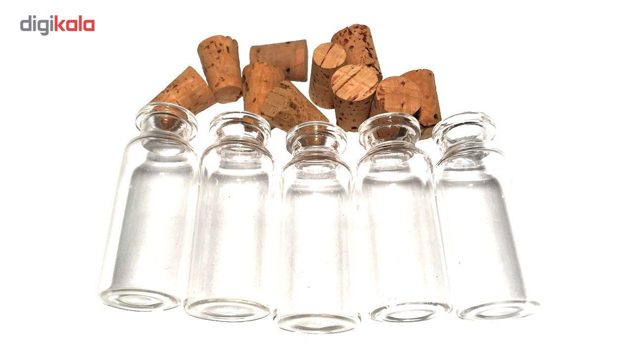 بطری با درب چوب پنبه مدل 15 سی سی - بسته 10 عددی main 1 3