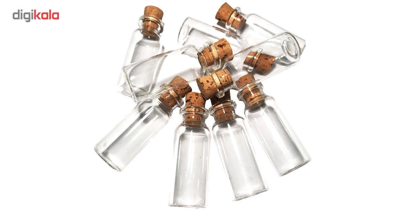 بطری با درب چوب پنبه مدل 15 سی سی - بسته 10 عددی main 1 4