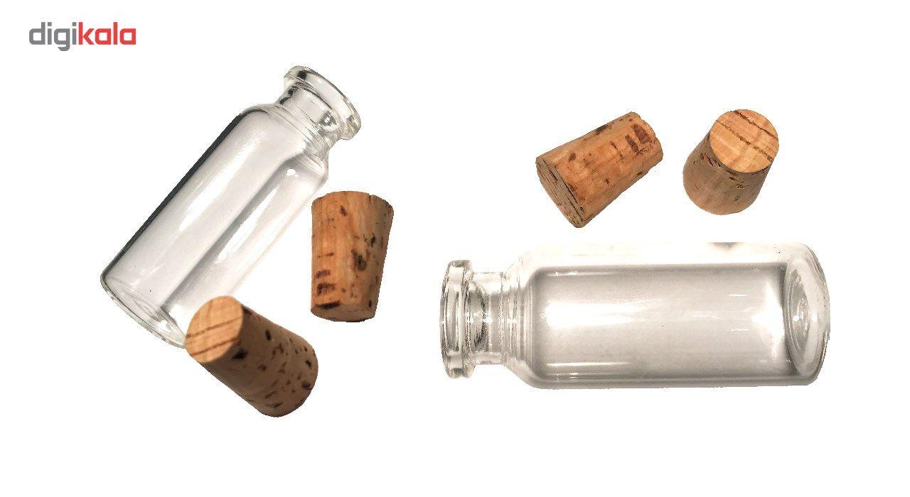 بطری با درب چوب پنبه مدل 15 سی سی - بسته 10 عددی main 1 5