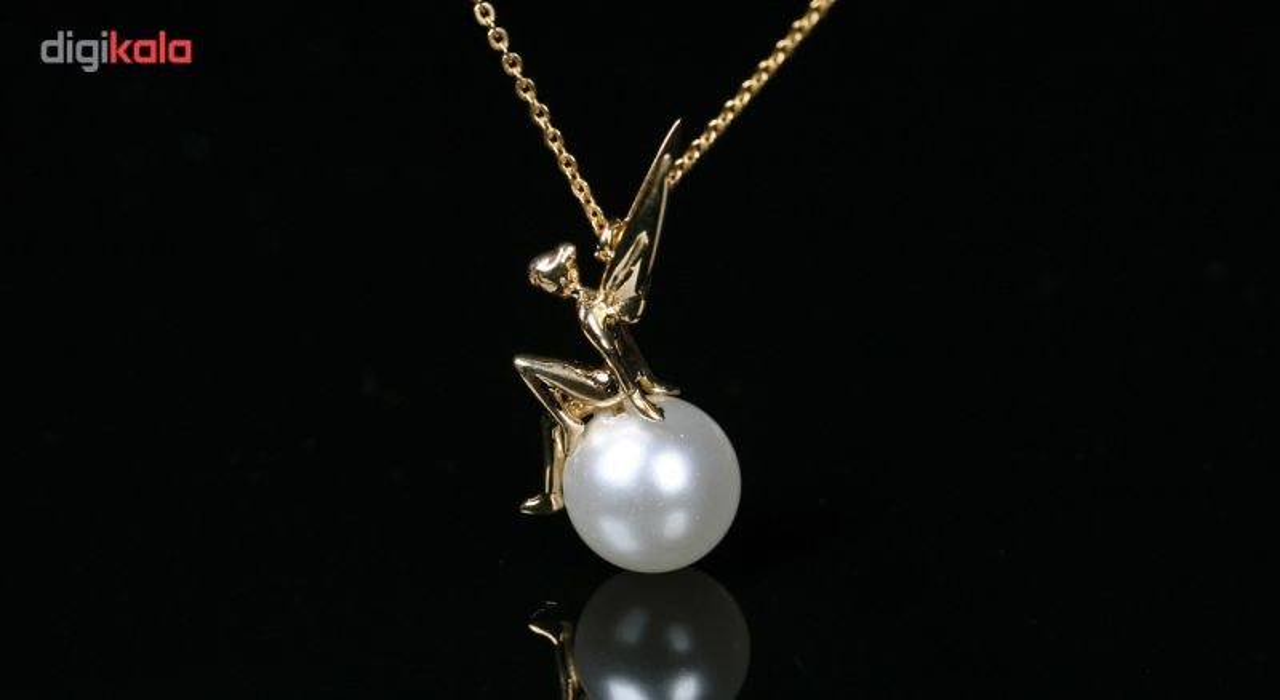 گردنبند طلا 18 عیار زنانه طرح فرشته