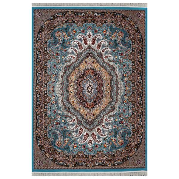 فرش ماشینی فرش هدیه طرح امیر زمینه آبی