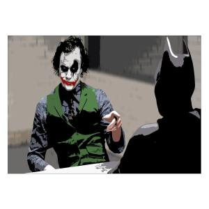 تابلو شاسی ونسونی طرح Joker Negotiation سایز 30 × 40