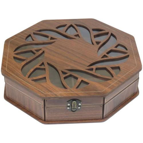 جعبه پذیرایی هدیه کادو دمنوش چای کیسه ای لوکس باکس کد LB023
