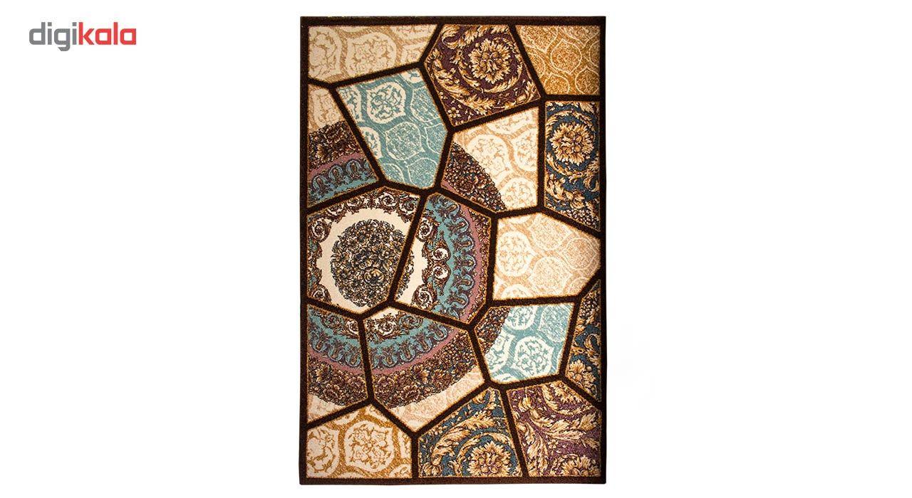 فرش ماشینی ساوین طرح رکسانا کد FSM36 زمینه قهوه ای main 1 1