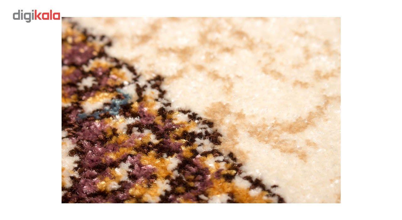 فرش ماشینی ساوین طرح رکسانا کد FSM36 زمینه قهوه ای main 1 3