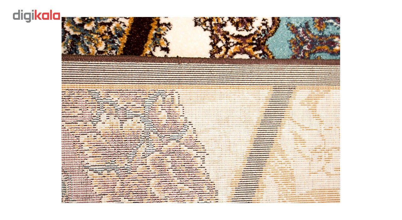 فرش ماشینی ساوین طرح رکسانا کد FSM36 زمینه قهوه ای main 1 4