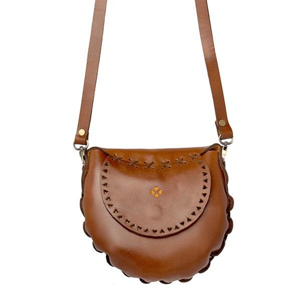 کیف دوشی چرم طبیعی گالری نوا سایز 25