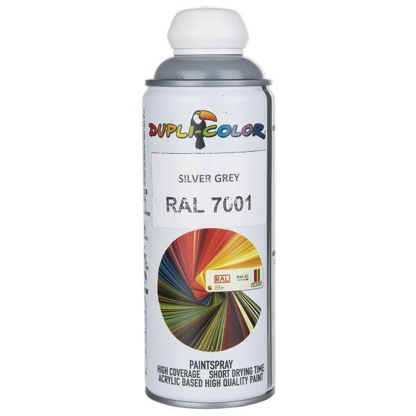 اسپری رنگ خاکستری نقره ای دوپلی کالر مدل RAL 7001 حجم 400 میلی لیتر