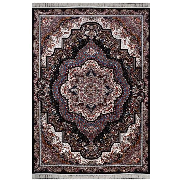 فرش ماشینی  فرش هدیه طرح شهرزاد زمینه سورمه ای