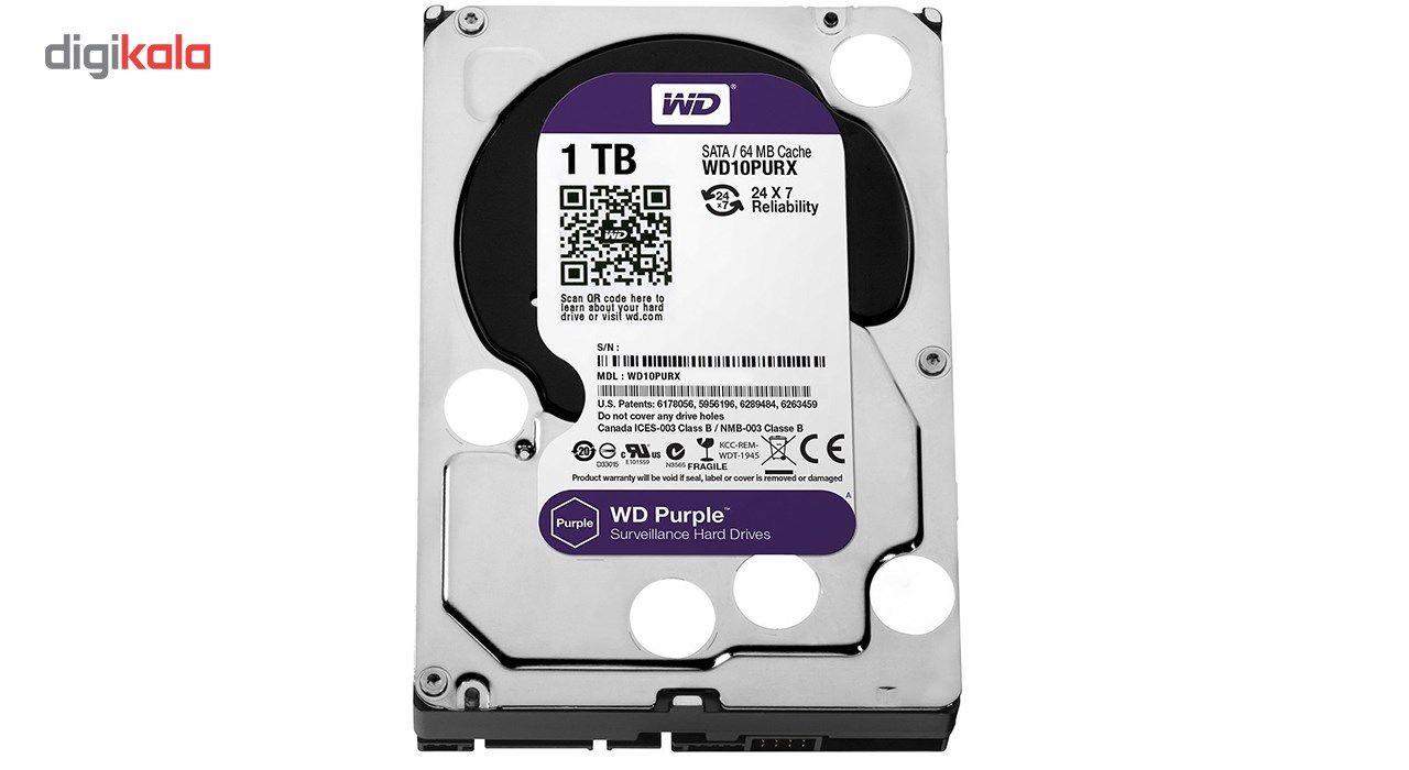هارددیسک اینترنال وسترن دیجیتال مدل Purple WD10PURX ظرفیت 1 ترابایت main 1 2