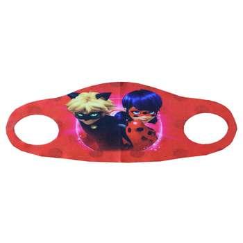 ماسک تزیینی بچگانه طرح دختر کفشدوزکی و پسر گربه ای مدل 030