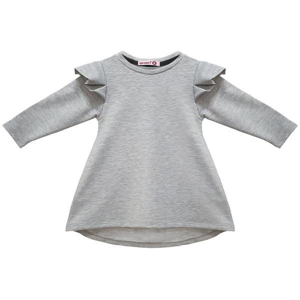 پیراهن دخترانه افراتین کد 0001 رنگ طوسی