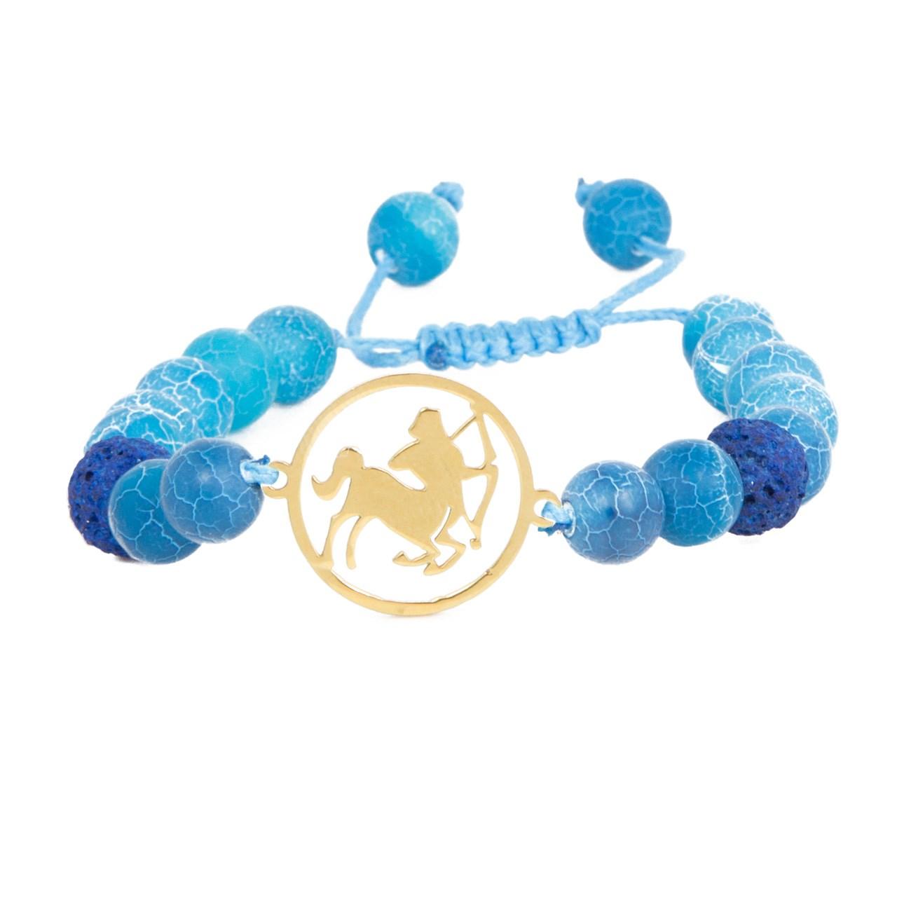 دستبند نوژین مدل آذر آبی
