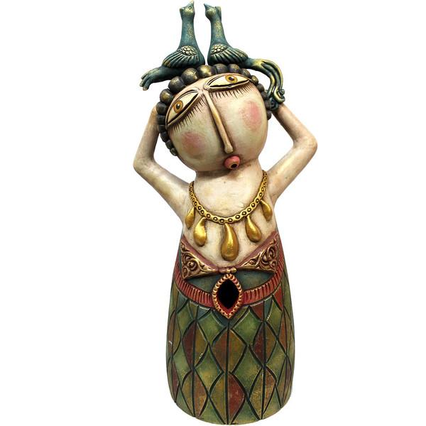 مجسمه زن سفالی گالری دست نگار کد 196-00