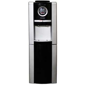 آبسرد کن ایستاده یخچال دار گاسونیک GWD 573 | تغذیه آب قمقمه ای دارای آبریز دکمه ای  Gosonic Water Dispenser