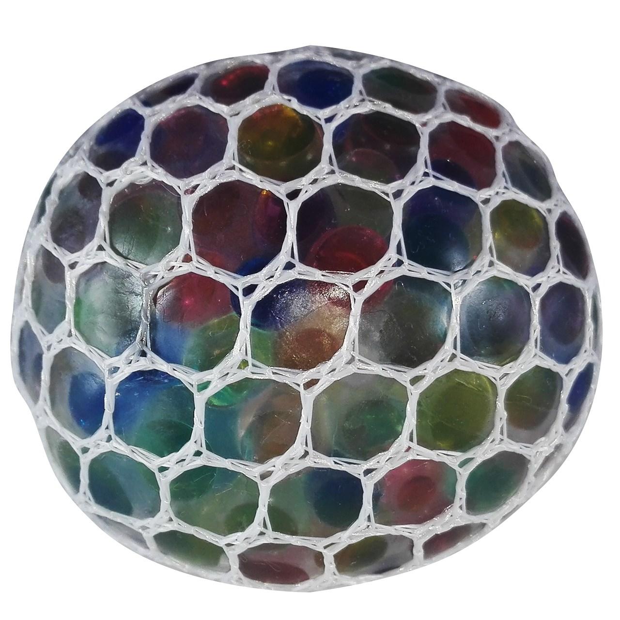 خرید                     توپ بازی ضد استرس مدل Gel Bullets White Mesh Squish Ball