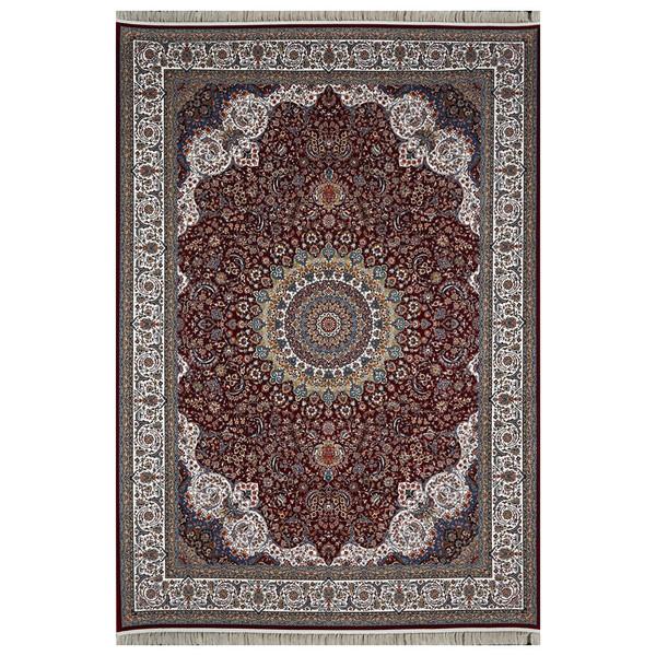 فرش ماشینی  فرش هدیه طرح کاشان زمینه عنابی