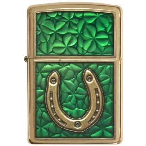 فندک زیپو مدل  Horseshoe on Shamrock Pattern کد 29243