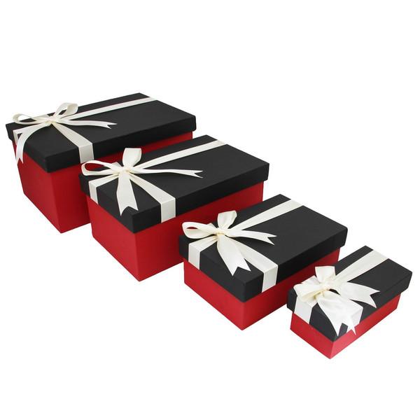 جعبه هدیه چوبی باکسیشو مدل BR110 مجموعه 4 عددی