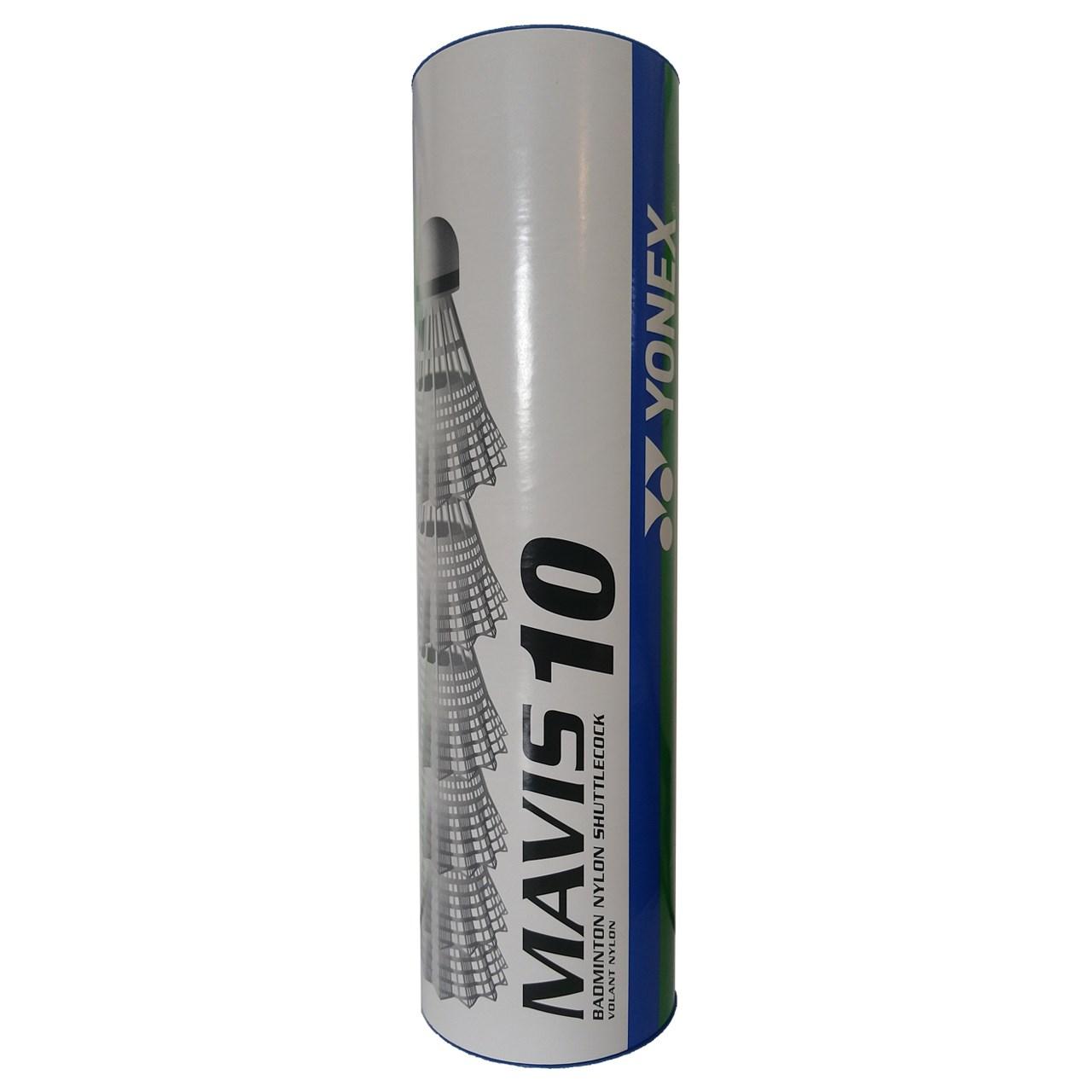 توپ بدمینتون یونکس مدل سفید Mavis 10 بسته 6 عددی