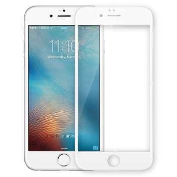 محافظ صفحه نمایش شیشه ای تمپرد مدل Full Cover مناسب برای گوشی موبایل اپل آیفون 6/6s Plus