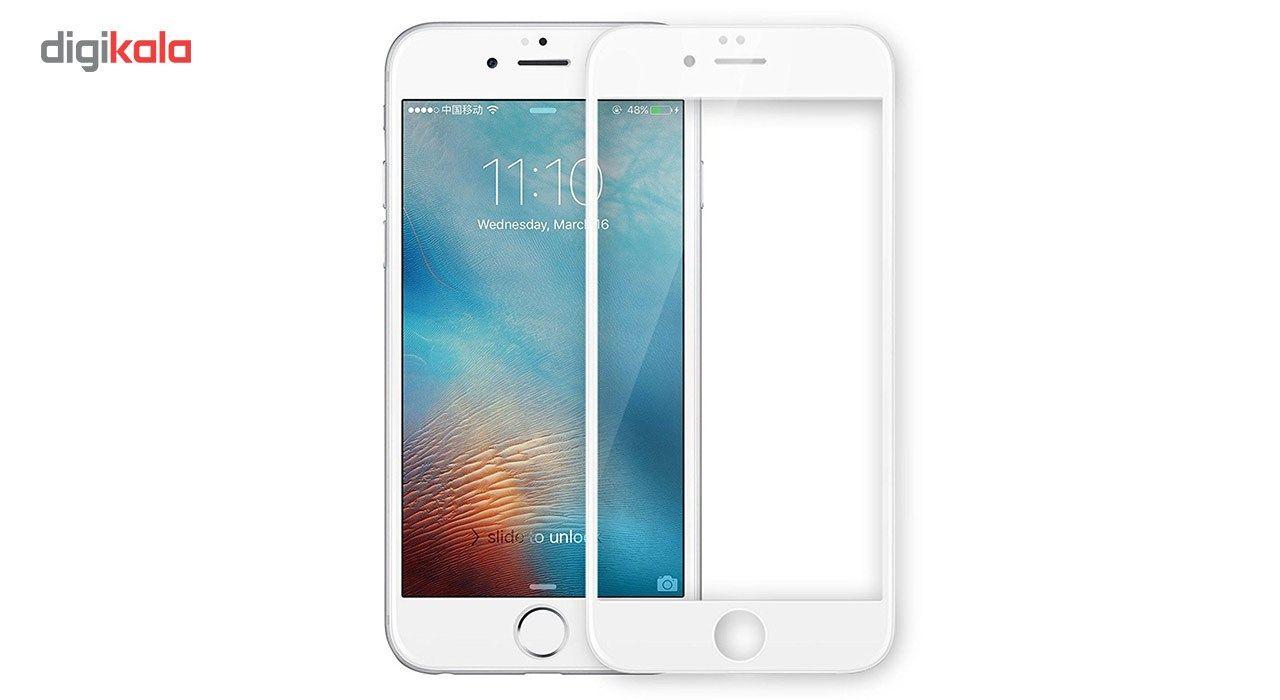 محافظ صفحه نمایش شیشه ای تمپرد مدل Full Cover مناسب برای گوشی موبایل اپل آیفون 6/6s Plus main 1 1