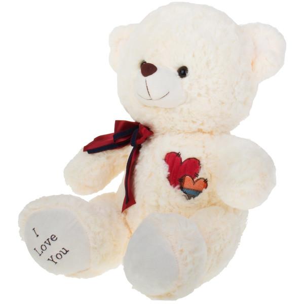 عروسک یاران مدل خرس قلب کبریتی ارتفاع 40 سانتی متر