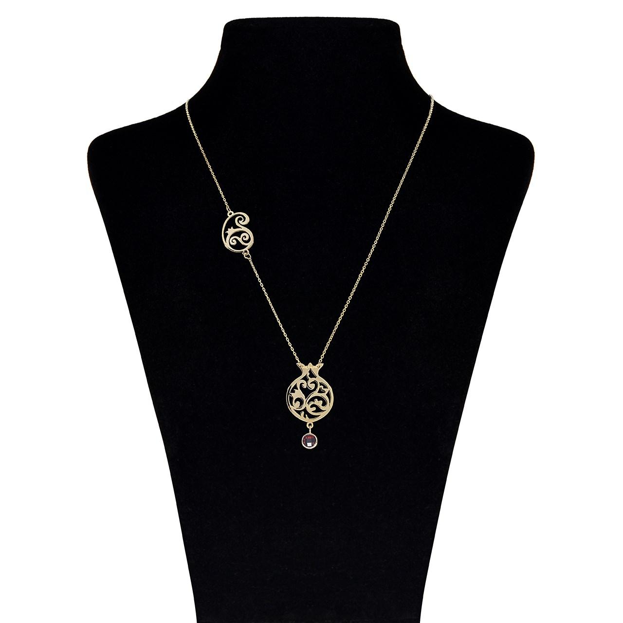 قیمت گردنبند طلا 18 عیار ماهک مدل MM0606 - مایا ماهک