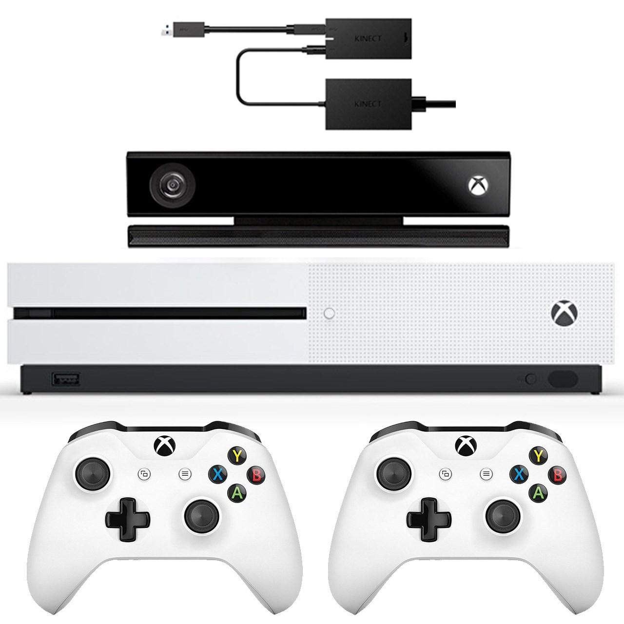 مجموعه کنسول بازی مایکروسافت مدل Xbox One S ظرفیت 1 ترابایت به همراه کینکت