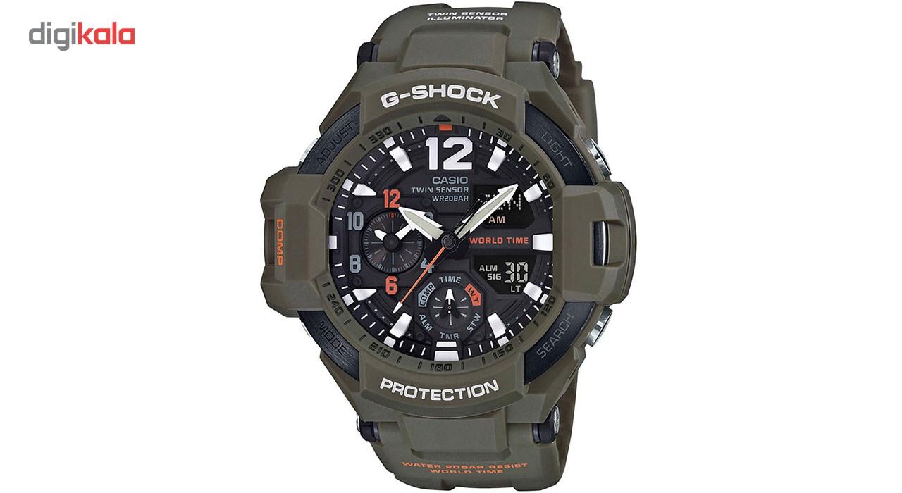 خرید ساعت مچی عقربه ای مردانه کاسیو جی شاک مدل GA-1100KH-3ADR