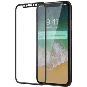 محافظ صفحه نمایش شیشه ای  نیلکین مدل Full Cover Amazing H Curved Fit مناسب برای گوشی موبایل اپل آیفون X