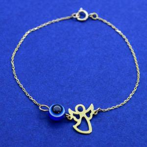 دستبند طلا 18 عیار دخترانه کانیار گالری مدل BB7