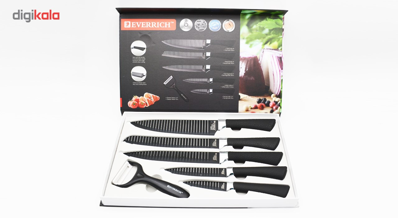 ست چاقوی آشپزخانه 6 پارچه اوریچ مدل ER-0158A