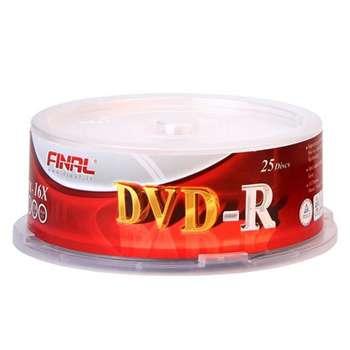 دی وی دی خام فینال مدل DVD-R بسته 25 عددی