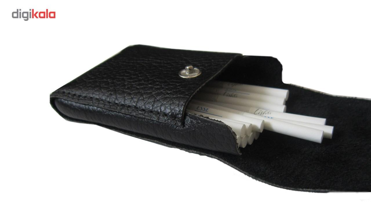 ست هدیه چرم طبیعی دستدوز مژی مدل TQ